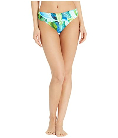 La Blanca Tropic Of The Day Shirred Band Hipster Bottoms (Blue) Women