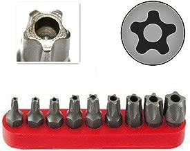 RAM-PRO 9Pc Torx Star 5 Point, Security Tamper Proof, Driver Bit Set – T10, 15,20,25,27,30,40,45,50 – Multifunction Damage/Shear Resistant Hollow Torque Kit