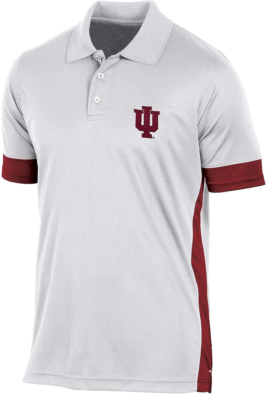 Pro Edge Men's Big and Tall NCAA Short Sleeve Polo Shirt University of Indiana Hoosiers