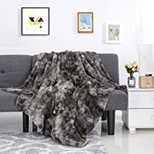 LANGRIA Luxury Super Soft Faux Fur Fleece Throw Blanket Cozy Fluffy Warm Breathable Lightweight and Machine Washable Dyed Fabric for Winter – Decorative Throw for Couch Sofa Bed (50