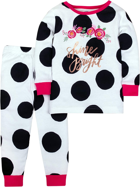 Lamaze Organic Baby Girls' Toddler Organic 2 Piece Longsleeve Tight Fit Pajamas Set