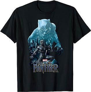 Marvel Black Panther Movie Wakanda City Silhouette Maglietta