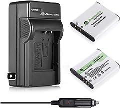 Powerextra 2X D-LI92 Battery & Charger Compatible with Olympus LI-50B, Pentax D-LI92, Ricoh Pentax Optio I-10 RZ10 RZ18 WG...