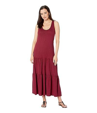 Lilla P Tiered Skirt Flame Modal Dress (Summer Plum) Women