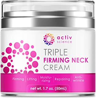 ACTIVSCIENCE Neck Firming Cream, Anti Aging Moisturizer for Neck & Décolleté, Double Chin Reducer, Skin Tightening Cream 2...