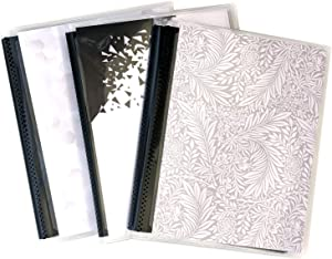 5 x 7 Photo Albums Pack of 2 with Black Pockets, Each Photo Album Holds Up to 48 5x7 Photos. Flexible, Removable Covers Come in Random, Assorted Patterns and Colors.