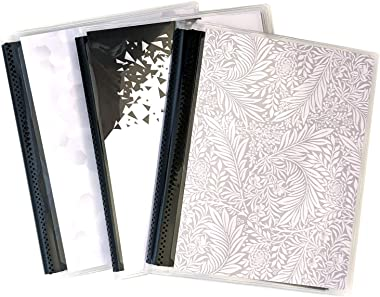 5 x 7 Photo Albums Pack of 3 with Black Pockets, Each Photo Album Holds Up to 48 5x7 Photos. Flexible, Removable Covers Come in Random, Assorted Patterns and Colors.