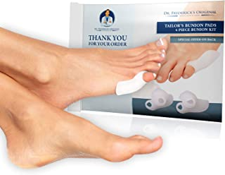 Dr. Frederick's Original Tailor's Bunion Pads - 4 Pads - Soft Gel Bunionette Pad - Shield - Cover - Protector - Tailors Bunion Pain Relief