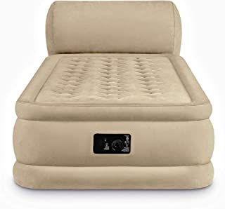 Air Mattress With Pump. This DuraBeam Ultra Plush Headboard Blow Up Airbed With Built In Electric Pump For Adults Indoor Or Outdoor Use. Raised Inflatable Bed Is Best As Camping Or Guest Bed Twin 31