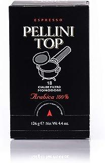 Pellini Caffè - Espresso Pellini Top Arabica 100%, (6 Confezioni da 18 Cialde Monodose, Totale 108 Cialde), Compatibili co...