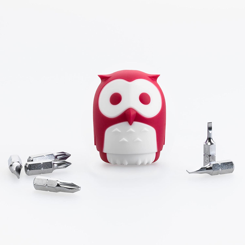 Huku Arlington Mall Owl Memphis Mall Shaped Screwdriver Fuchsia Portable
