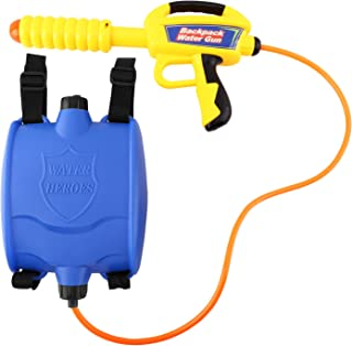 Zooawa Water Gun Backpack Water Blaster Pump Squirt for Kids Girls Long Range Large Capacity with Tank Outdoor Toys