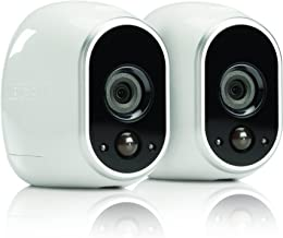 (Renewed) Netgear Arlo Smart Security - 2 HD Camera Security System,Wire-Free, Indoor/Outdoor with Night Vision (VMS3230) (VMS3230