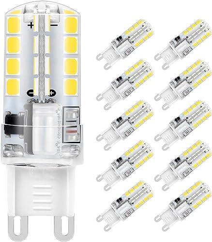 Ampoule LED G9, Jpodream 5W 32 x 2835 SMD LED Lampes Blanc Froid 6000K, 400LM, Économie d'énergie Equivalente 40W Hal...