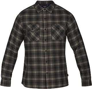 Men's Long Sleeve Plaid Woven Button Down Shirt