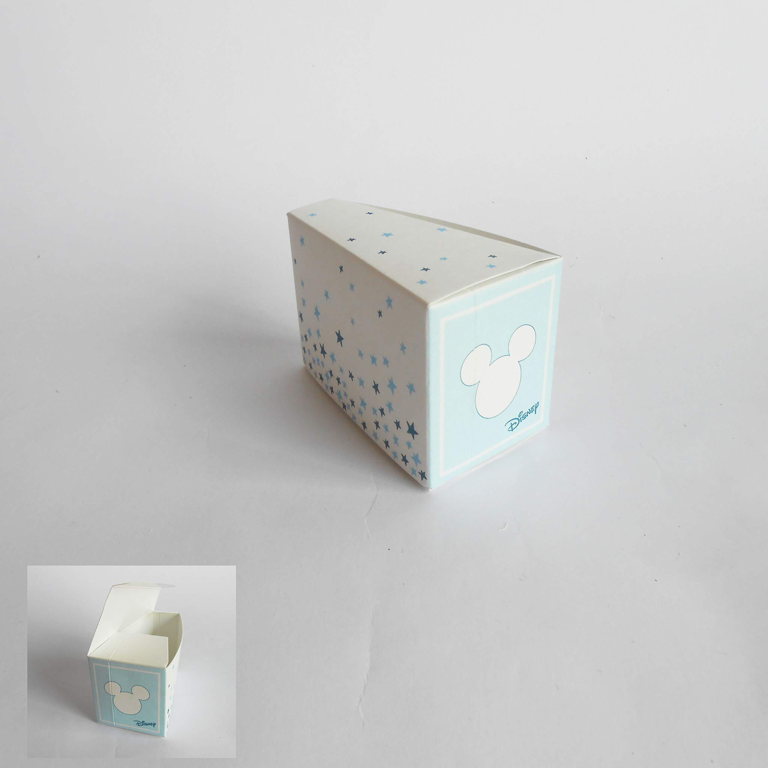 Detalle Caja Rebanada Tarta Confeti Topolino Disney Azul cielo set ...