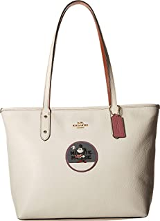 COACH Womens Minnie Mouse City Zip Tote with Patches ¿Disney x COACH