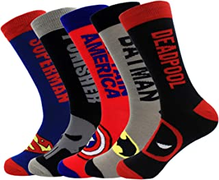 NEW Fashion Men/'s Cotton Socks Super Hero Casual Dress Socks
