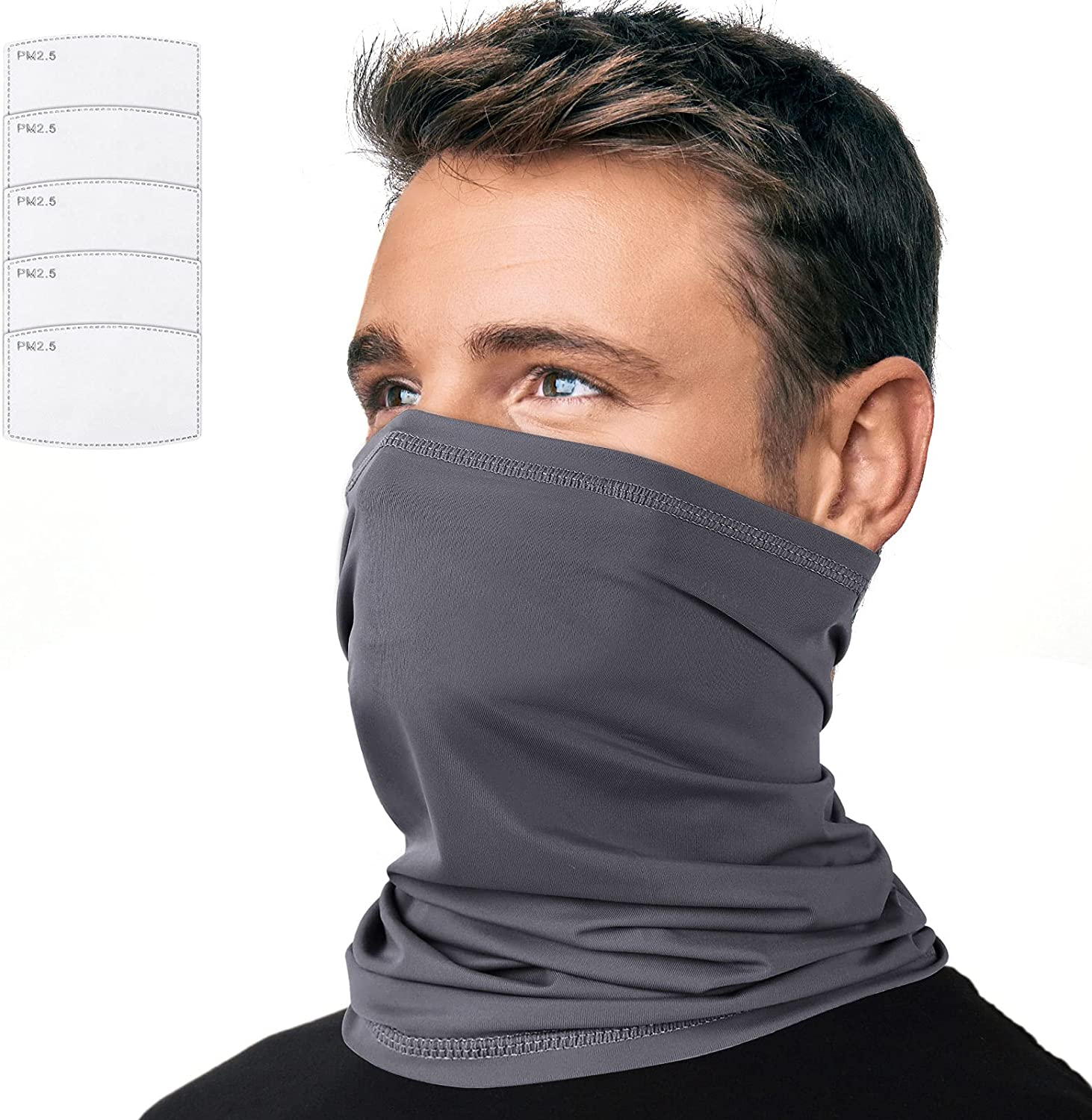 Cooling Neck Gaiter Mask with Filter UPF 50+ Sun Protection for Men and Women