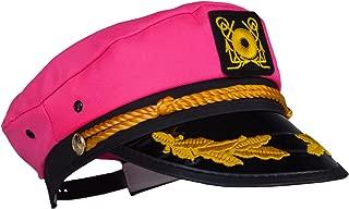 pink captain hat