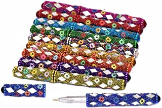Goranshi Handicrafts Colorful Pen for Gift Home Office Table Decor Set of 10 Pcs II Gifting for Students II