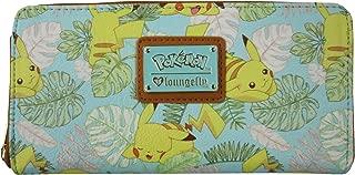 Loungefly x Pokemon Pikachu Leaves Mint Zip-Around Wallet