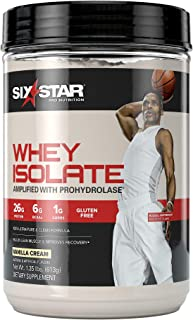 Whey Protein Isolate | Six Star 100% Whey Isolate Protein Powder | Whey Protein Powder for Women & Men | Post Workout Musc...
