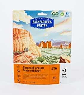 Backpacker's Pantry Shepherd's Potato Stew with Beef, 2 Servings Per Pouch, Freeze Dried Food, 13 Grams of Protein, Gluten Free
