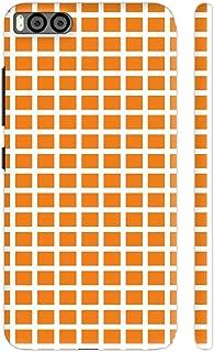 Colorpur Orange Small Checkers Printed Back Case Cover for Xiaomi Mi 6