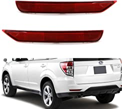 iJDMTOY Red Lens Rear Bumper Reflector Lenses For 2009-2018 Subaru Forester, OE-Spec LH RH Assembly