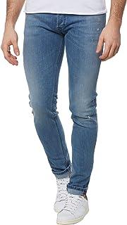 Diesel Men's Jeans Sleenker Denim Pants Slim Skinny fit Cotton Blue 00S7VG-0688C-01