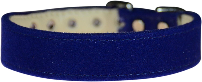 Evans Collars 3 4  Shaped Collar, Size 12, Velvet, bluee