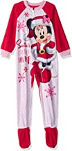 Disney Girls' Toddler Minnie Mouse Fleece Footed Blanket Sleeper