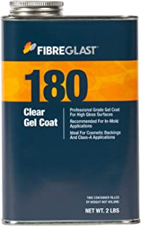 Fibre Glast - Clear Gel Coat - 1 Quart with Hardener - Crystal-Clear, High-Gloss