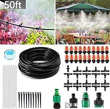 MSDADA Outdoor Misting Cooling System Micro Irrigation Kits, 50ft Blank Distribution Tubing Irrigation 4/7 Tube DIY Garden Saving Water for Patio Garden Umbrellas Greenhouse Trampoline