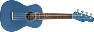 Fender Zuma Concert Uke, Walnut Fingerboard, Lake Placid Blue