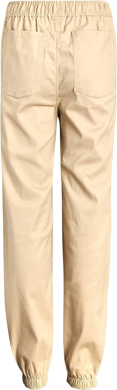 Cherokee Boys' School Uniform - Cotton Twill Khaki Jogger Pants
