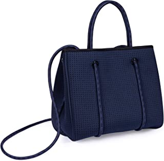 Somewhere Haute Mini Perforated Neoprene Tote With Crossbody Strap for Women