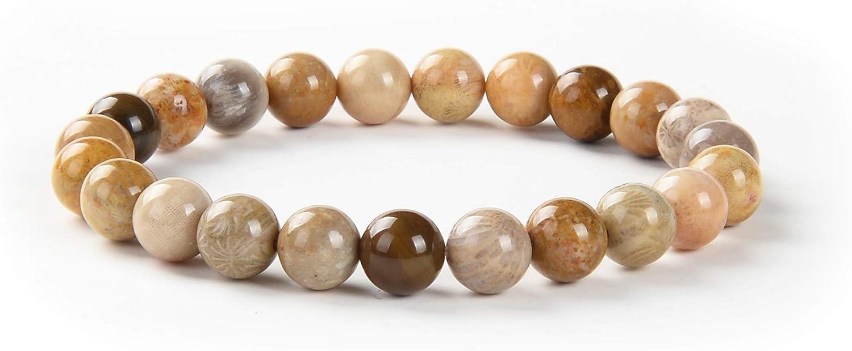malahill Premium Gemstone Beaded Bracelets for Men Women Healing, 100% Natural AAA Grade