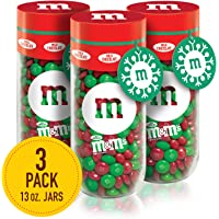 3-Pack M&M'S Milk Chocolate Christmas Candy Gift, 13-Ounce Jar