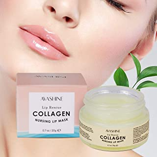 Avashine Lip Sleep Mask with Collagen Peptide, lip mask for dry lips, a Lip Moisturizer for Lip Care and Lip Treatment