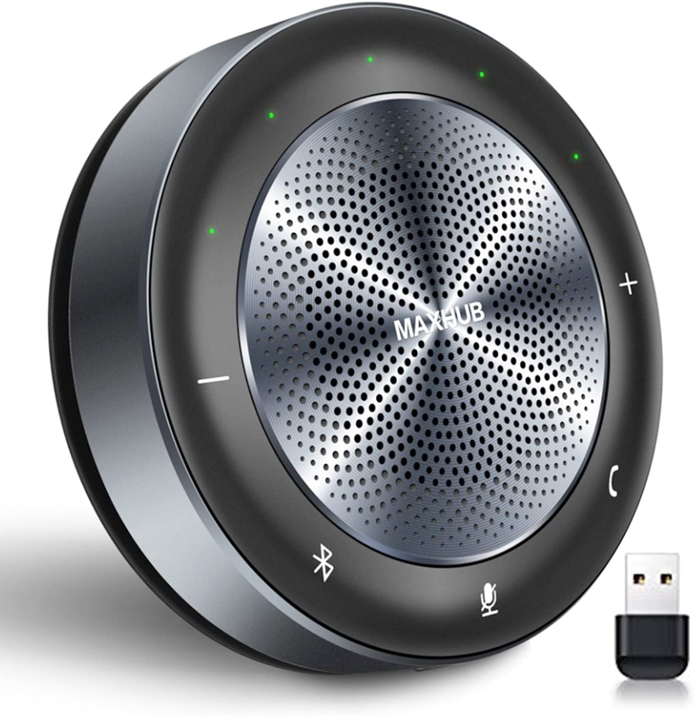 Bluetooth Speakerphone-MAXHUB BM21 6 Microphones 360°Voice Pick Up Noise Reduction Wireless Charging 8 Hour Call Time for 6-10 People Business Conference Phone Portable for Holding Meetings Anywhere : Office Products