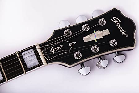 GROTE 335 style Jazz Electric Guitar with Bigsby Semi-Hollow Body (Purle)