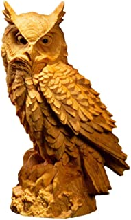 AIJOAN-BJ Statue De Sculpture Ornement De Statue Sculpture Statue Décoration Buis Sculpture sur Bois Décoration De La Mais...