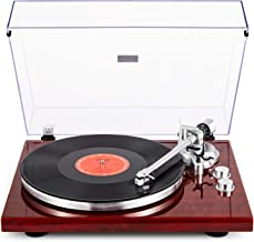 1byone Belt Drive Turntable with Wireless Connectivity, Built-in Phono Pre-Amplifier & USB Digital Output Vinyl Record Player with Magnetic Cartridge, Red