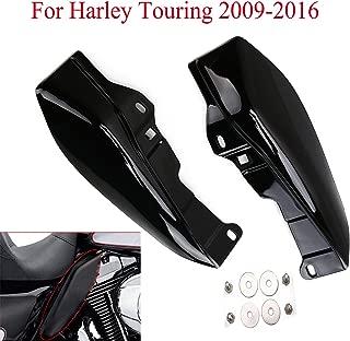 Espear Mid-Frame Air Deflector Trim/Black Wing Windshield Air Deflectors Fairing for Harley Touring Street Glide FLHX 2009-2016