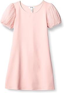 فستان قصير بأكمام قصيرة للفتيات مطبوع عليه كلمة Speechless