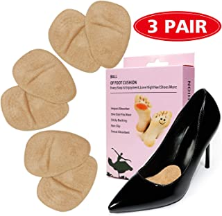 3 Pairs Metatarsal Pads Gel Ball of Foot Cushions Comfort Shoe Inserts for High Heels Insoles Extra Soft Reusable Forefoot Pads for Women Shoe Rapid Pain Relief