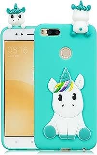 DAMONDY Xiaomi Mi A1 Case, Xiaomi Mi 5X Case, Mi A1 Cute Case, 3D Cute Unicorn Cartoon Soft Gel Silicone Design Rubber Skin Thin Protective Cover Phone Case for Xiaomi Mi 5X / Xiaomi Mi A1-Light Blue