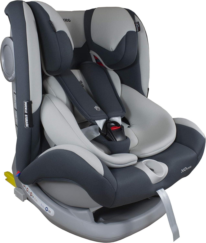 XOMAX S66 Silla de coche con Isofix I inclinable I Grupo 0+/1/2/3 I evolutiva 0-36 kg, 0-12 años I Funda extraíble y lavable I ECE R44/04